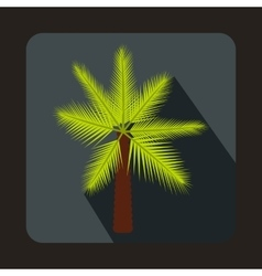 Palm icon in flat style vector