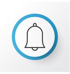 Alarm icon symbol premium quality isolated bell vector