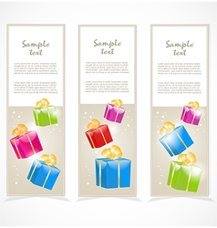 Banners with gift boxes vector image vector image