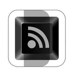 Black button wife icon vector