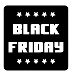 Black friday emblem with stars icon simple style vector