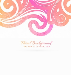 Colroful floral background vector