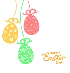 easter lace color vector image vector image