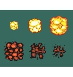Explosion burst animation frames vector image