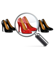 Female shoes with lens vector
