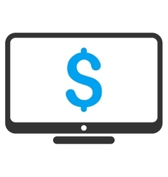 Financial monitoring icon vector