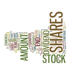 Good stock market tip good return text background vector