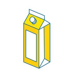 Juice box icon vector
