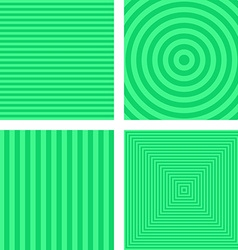 Light green simple striped background set vector