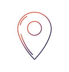 Line symbol ubication to explore map location vector