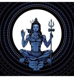 Lord shiva hindu god vector