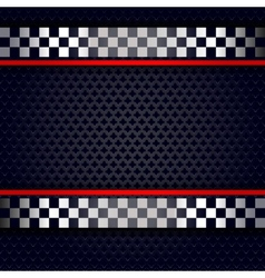Metallic perforated sheet background for race vector image vector image