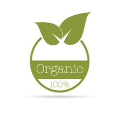 organic symbol in green color vector image vector image