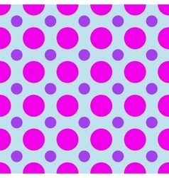 Polka dot geometric seamless pattern vector image vector image