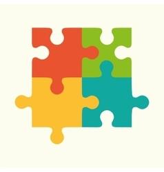 puzzles flat puzzles logo puzzle design puzzle vector image