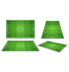 soccer european football field in different point vector image