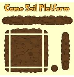 Soil platform texture for games vector
