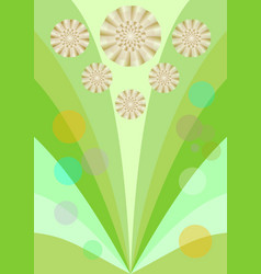 Spring background with cute yellow flowers vector
