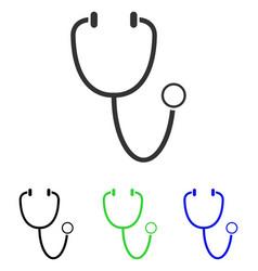 Stethoscope flat icon vector