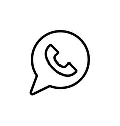 Thin line whatsapp icon vector