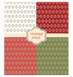 Vintage set with Damask ornaments pattern vector image vector image