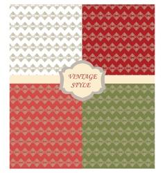 Vintage set with Damask ornaments pattern vector image