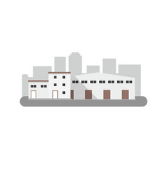 Warehouse icon in flat style isolated vector