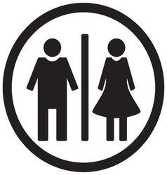 WC toilet icon vector image