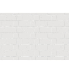 White brick wall seamless texture background vector