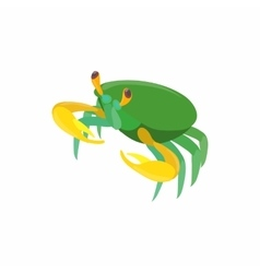 Green crab icon cartoon style vector