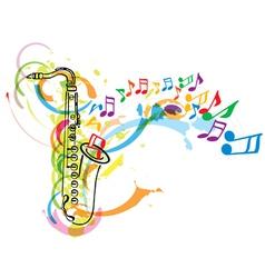 saxophone vector image