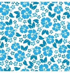 Hibiscus flowers seamless pattern Hawaiian Aloha vector image