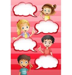 Children and bubble speeches design vector image