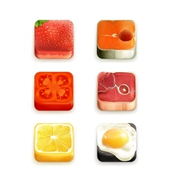 Food app icons set vector image