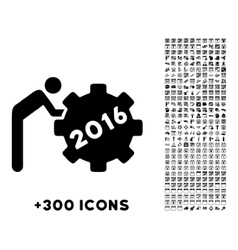 2016 working man icon vector