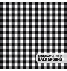 Gingham black vector