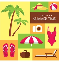 Summer icons set 2 vector
