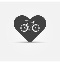 I love my bike icon vector