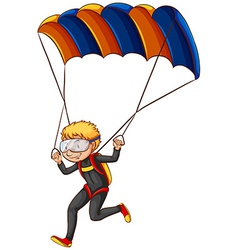 A man enjoying the parachute vector