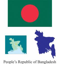 Peoples republic of bangladesh flag vector