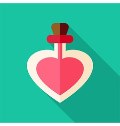 Love poison bottle with heart shape vector