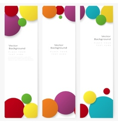 Set of abstract template banner with color circles vector