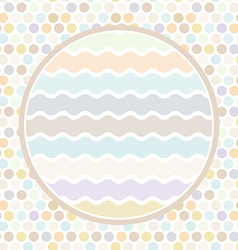 Design cards circle for your text polka dot vector