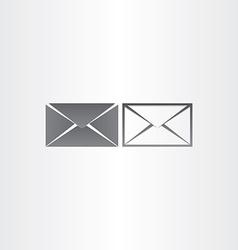 black envelope letter mail icons vector image