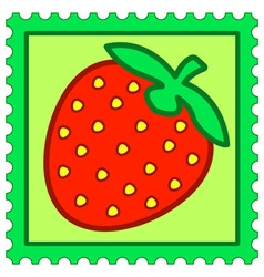 Strawberry stamp vector