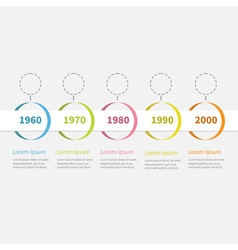 Timeline infographic colorful hanging circles vector