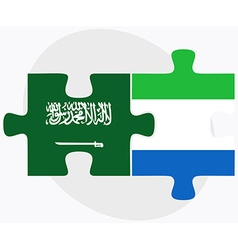 Saudi arabia and sierra leone flags vector