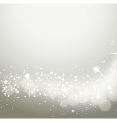 Glittering stars flowing background vector