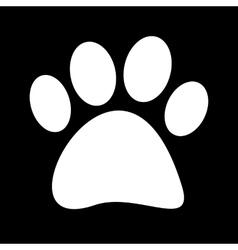 a white fingerprint vector image vector image