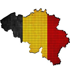 Belgium map with flag inside vector